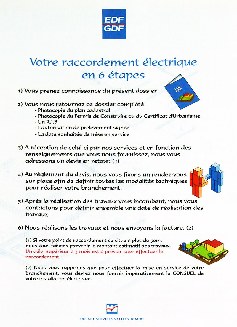 Brochure raccordement EDF Aude