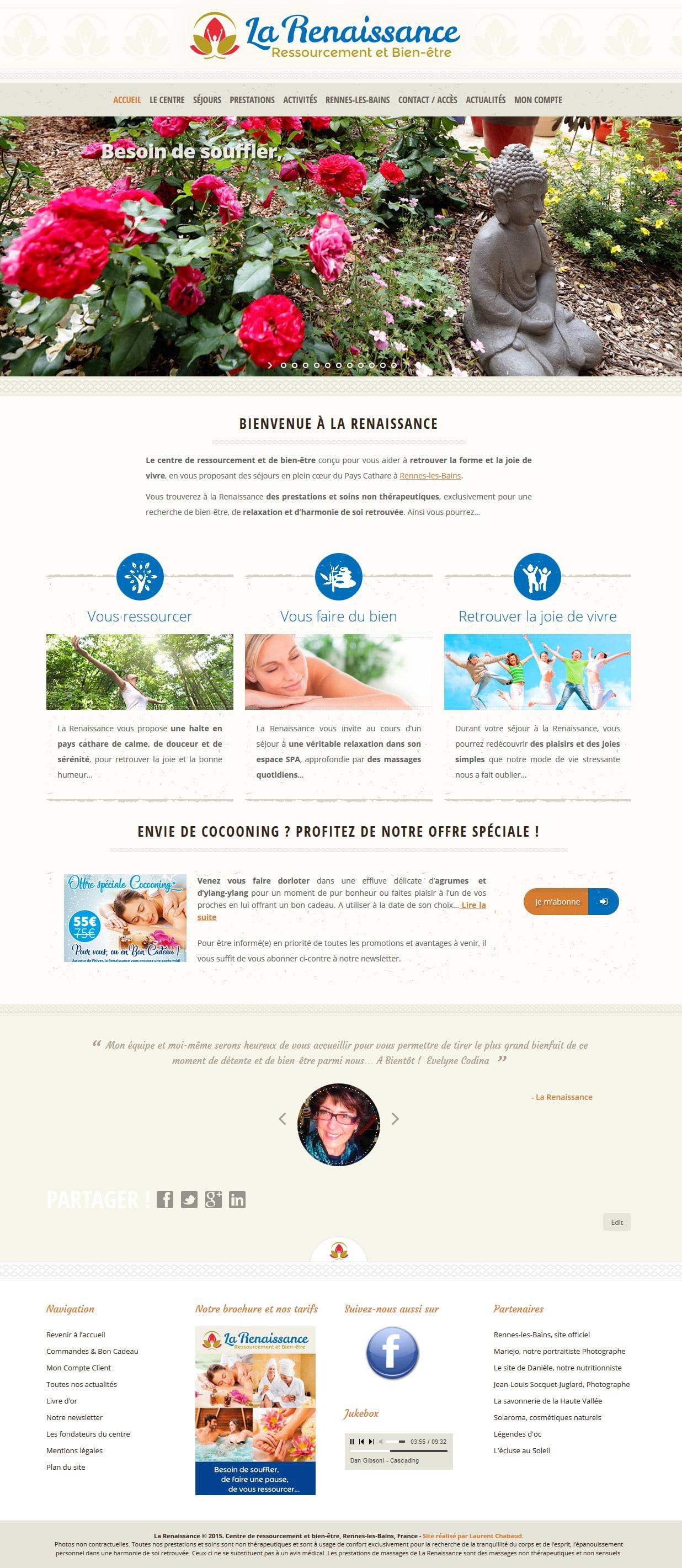 Site web La Renaissance Laurent Chabaud