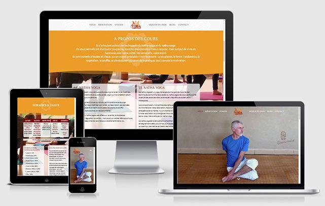Création site web Yoga Expérience par Laurent Chabaud, Ardèche
