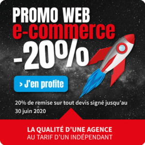 Promo 20% sur site internet e-commerce web design professionnel