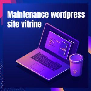 Maintenance wordpress site vitrine